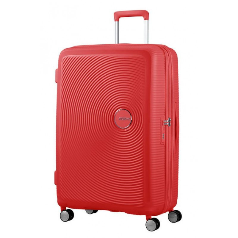 American Tourister Sound Box 77 cm Valise Trolley 4 Roues Coral Red