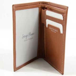 Serge Blanco Campania Porte Cartes Cuir NIA21052 Cognac