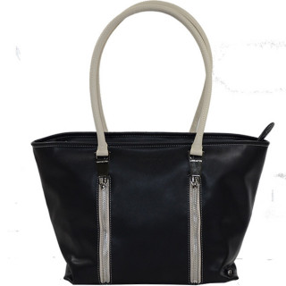 Lancaster Actual Zip Up Sac Cabas 517-67 Noir