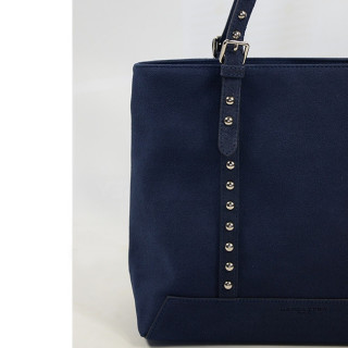 Lancaster Actual Smart Studs Sac Shopping 517-60 Bleu Fonce