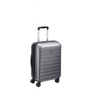Delsey Segur Valise Trolley Cabine Slim 4 Roues 55 cm Grise