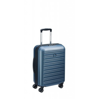 Delsey Segur 2.0 Valise Trolley Cabine Slim 4 Roues 55 cm Bleu