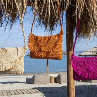 L'Atelier du Crochet Sac Trotteur Raphia Fushia