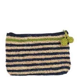 L'Atelier du Crochet Pochette Crochet Holi Bleu Jean Anis