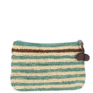 L'Atelier du Crochet Pochette Crochet Holi Turquoise Chocolat
