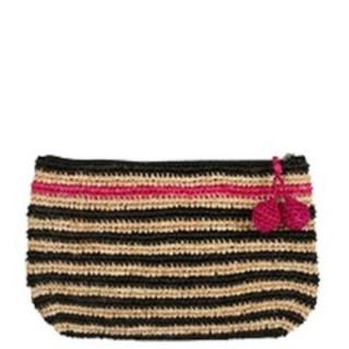 L'Atelier du Crochet Pochette Crochet Holi Noir Fushia
