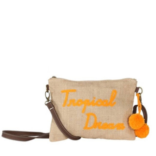 Le Voyage En Panier Tweet Sac Trotteur Tropical Dream Orange