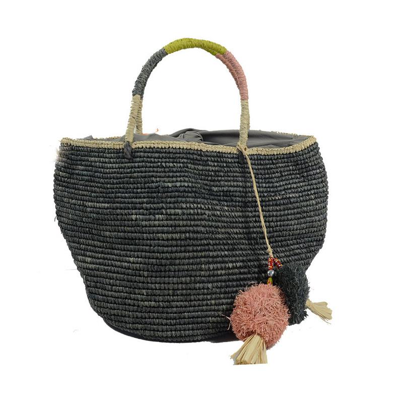 L'Atelier du Crochet Sac Boule Bolisoa Gris