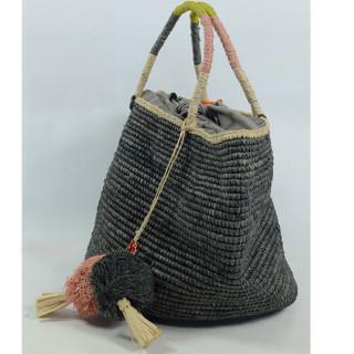 L'Atelier du Crochet Sac Boule Bolisoa Gris cote
