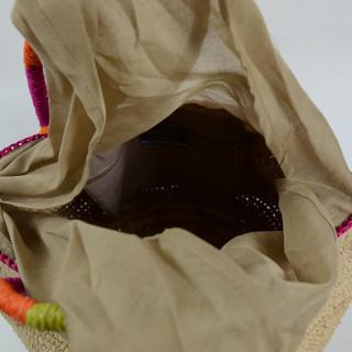 L'Atelier du Crochet Sac Boule Bolisoa Ecru ouvert