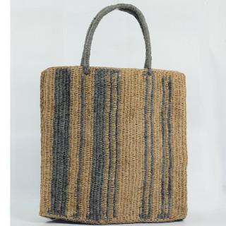 L'Atelier du Crochet Sac Cabas Vertiga Gris dos