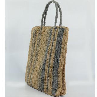 L'Atelier du Crochet Sac Cabas Vertiga Gris cote