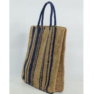 L'Atelier du Crochet Sac Cabas Vertiga Bleu