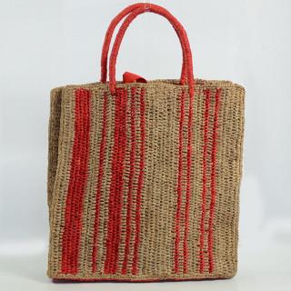 L'Atelier du Crochet Sac Cabas Vertiga Rouge dos