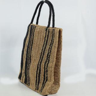 L'Atelier du Crochet Sac Cabas Vertiga Noir cote