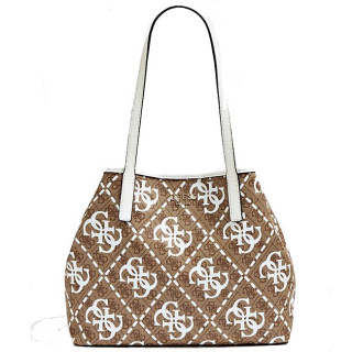 Guess Vikky Sac Shopping et Pochette 2 en 1 White Multi