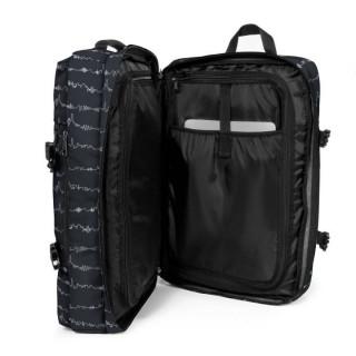 Eastpak Tranzpack Sac A Dos Business et Bagage Cabine 59x Beat Black ouvert