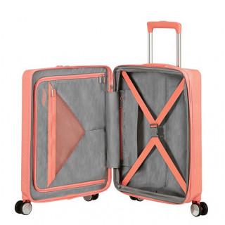 American Tourister Flylife Spinner 55 cm Valise Cabine Trolley 4 Roues Rose Corail