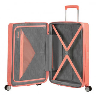 American Tourister Flylife Spinner 67 cm Valise Trolley 4 Roues Rose Corail