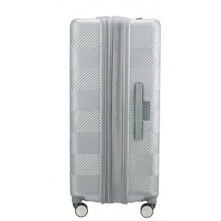 American Tourister Flylife Spinner 77 cm Valise Trolley 4 Roues Sky Silver