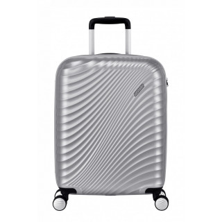 American Tourister Jet Glam 55 cm Valise Cabine Trolley 4 Roues Metallic Silver