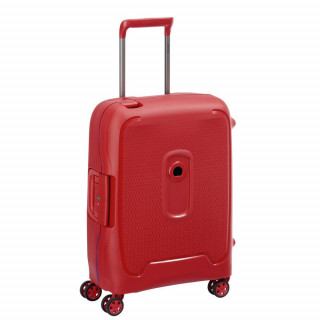 Delsey Moncey Valise Cabine Slim 4 Doubles Roues 55 cm Rouge
