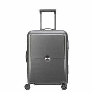 Delsey Turenne Valise Trolley Cabine SLIM 4 Doubles Roues 55 cm Argent 1