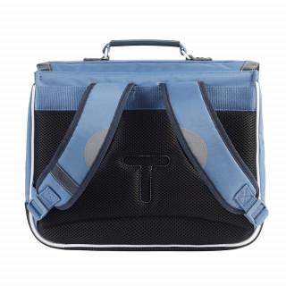 Tann's Bleu de Prusse Cartable 35cm Bleu dos