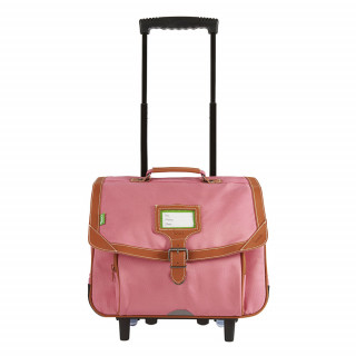 Tann's Portofino Cartable Trolley 38cm Rose