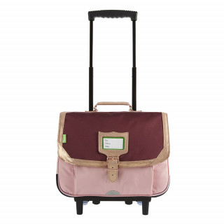 Tann's Palermo Cartable Trolley 38cm Bordeaux Rose
