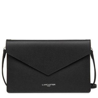 Lancaster City Americanini Double Sac Pochette 222-20 Noir In Rouge
