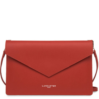 Lancaster City Americanini Double Sac Pochette 222-20 Rouge In Champagne