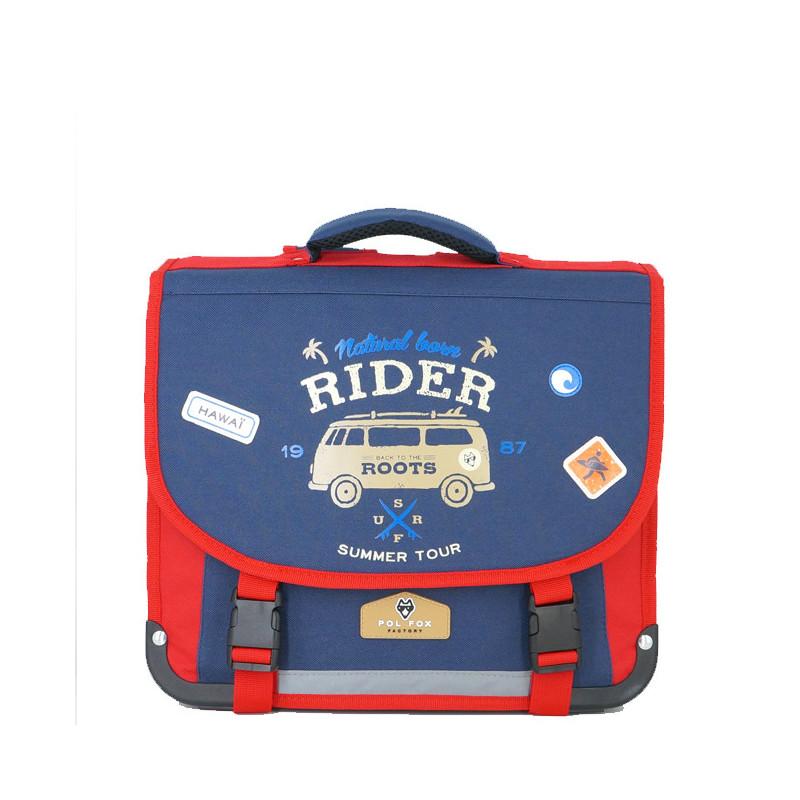 Pol Fox Cartable 35cm Rider Bleu et  Rouge