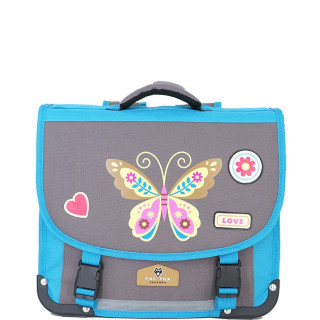 Pol Fox Cartable 35cm Buttterfly Bleu