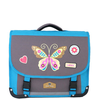 Pol Fox Cartable 38cm Butterfly Bleu