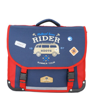 Pol Fox Cartable 38cm Rider Bleu et Rouge