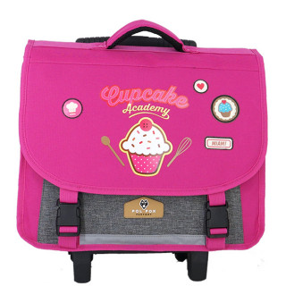 Pol Fox Cartable Trolley 38cm Cup Cake Rose