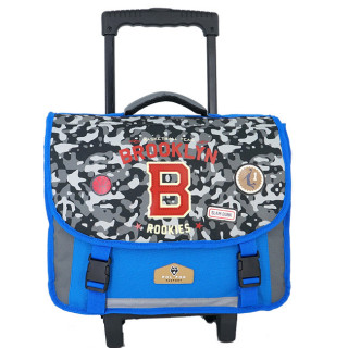 Pol Fox Cartable Trolley 38cm Brooklyn Bleu