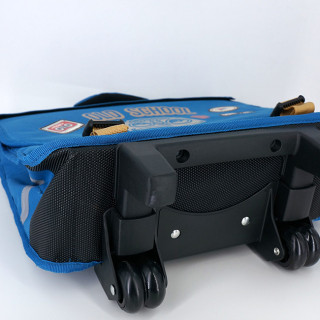 Pol Fox Cartable Trolley Reversible 38cm Old School Bleu et Gris sous