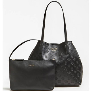 Guess Vikky Sac Shopping et Pochette 2 en 1 Black