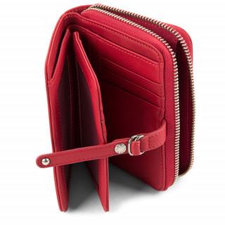 Lancaster Soft Vintage Nova Portefeuille 120-60-Rouge ouvert