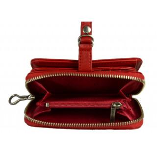 Lancaster Soft Vintage Nova Portefeuille 120-60-Rouge5