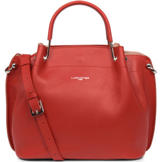 Lancaster Foulonne Double Grand Sac A Main Louisa 470-18 Rouge In Poudre