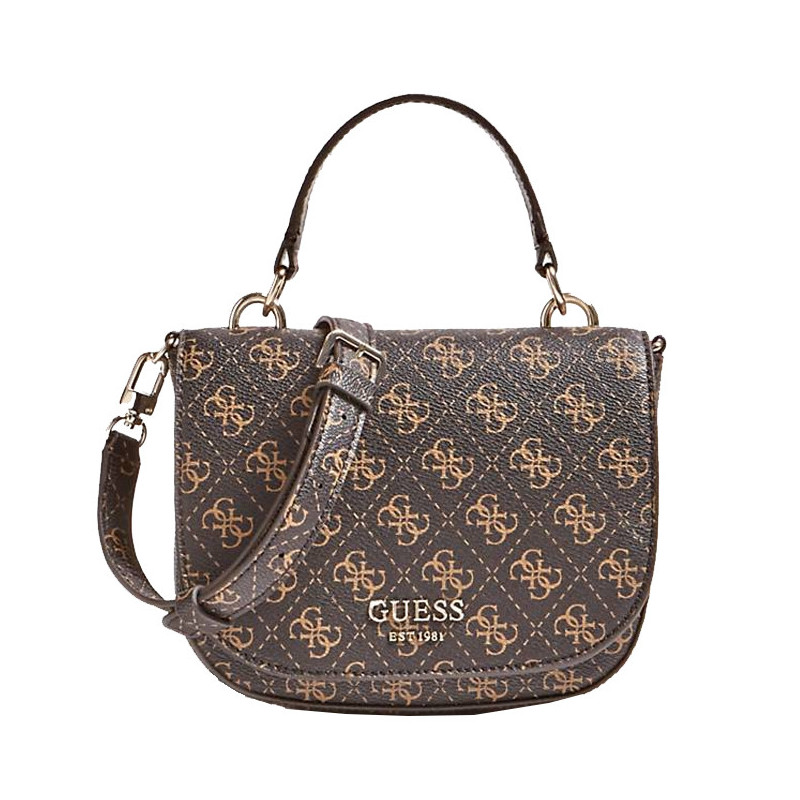 Guess Logo Rock Sac Bandoulière 4G Brown