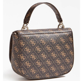 Guess Logo Rock Sac Bandoulière 4G Brown dos