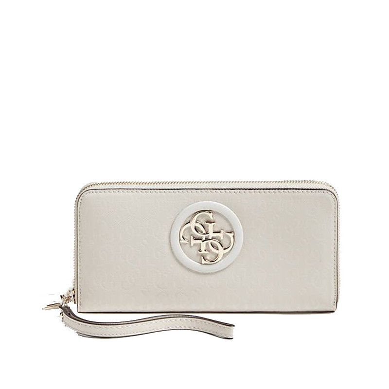 Guess Open Road Logo Compagnon Large Zip Around Stone