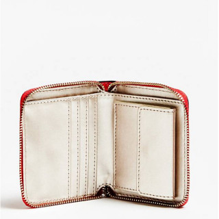 Guess Peony Classic Portefeuille Compact Poppy ouvert