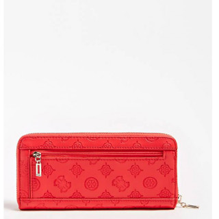 Guess Peony Classic Logo Compagnon Large Zip Around Poppy dos