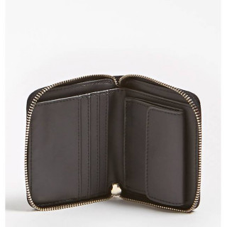 Guess Peony Shine Portefeuille Compact Black ouvert