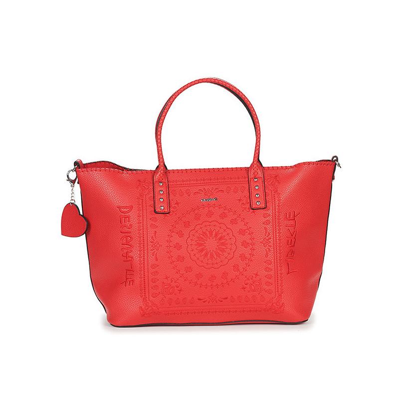 Desigual sac shopping mandala rouge